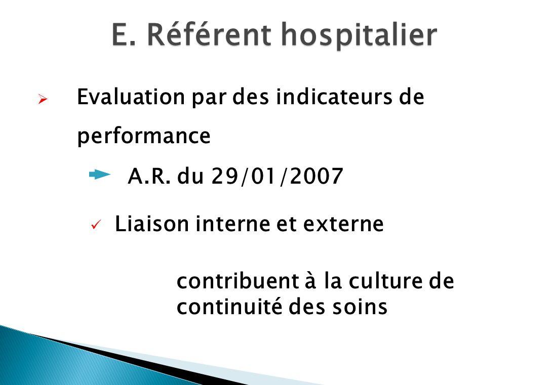 Evaluation par des indicateurs de performance A.R.