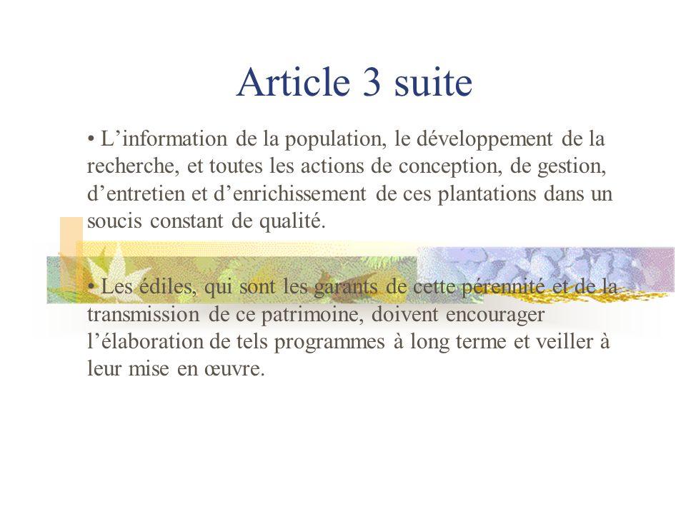 Article 4 La reconnaissance scientifique de larbre commence à se développer mais demeure embryonnaire.