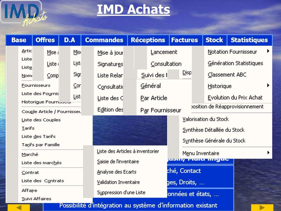 IMD Achats Logiciel de gestion des Achats Convivial et simple à utiliser