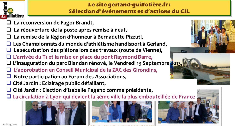 Le 18/05/2014 http://www.ucil.fr/commissions-2/ecologie-urbaine La reconversion de Fagor Brandt, La réouverture de la poste après remise à neuf, La re