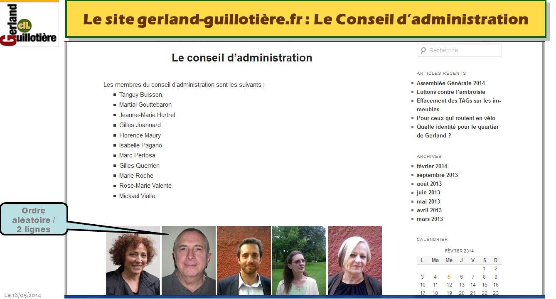 Le 18/05/2014 http://www.ucil.fr/commissions-2/ecologie-urbaine Le site gerland-guillotière.fr : Vers les sites remarquables