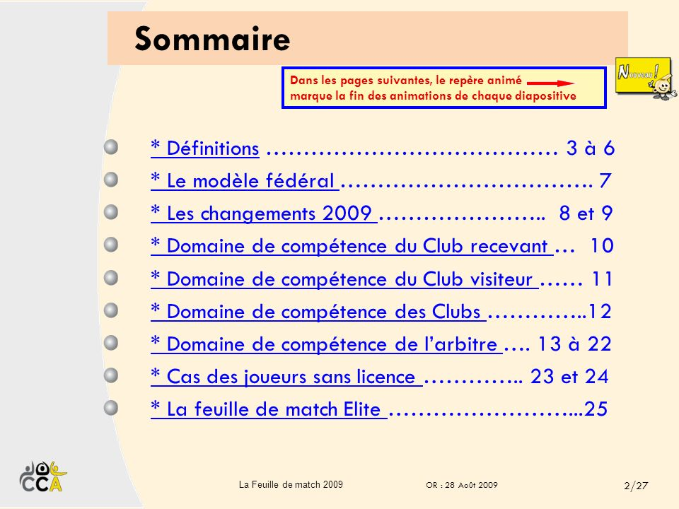 Edition Août 2009 OR : 28 Août 2009