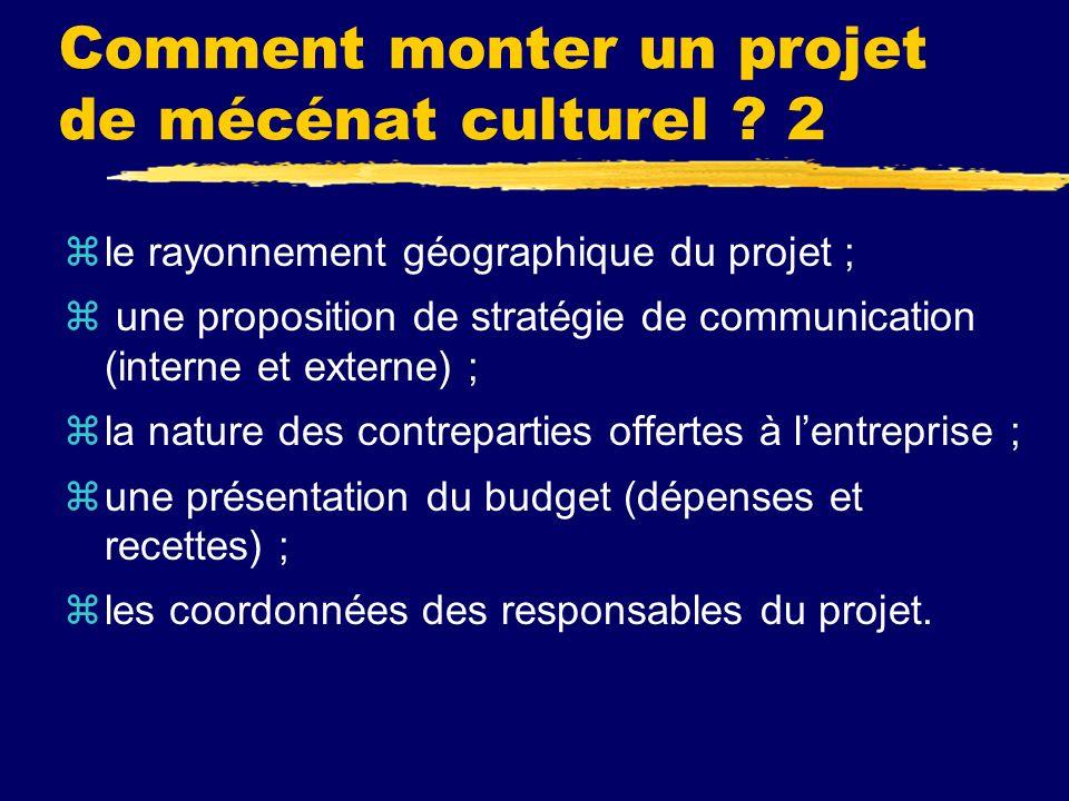 Comment monter un projet de mécénat culturel .