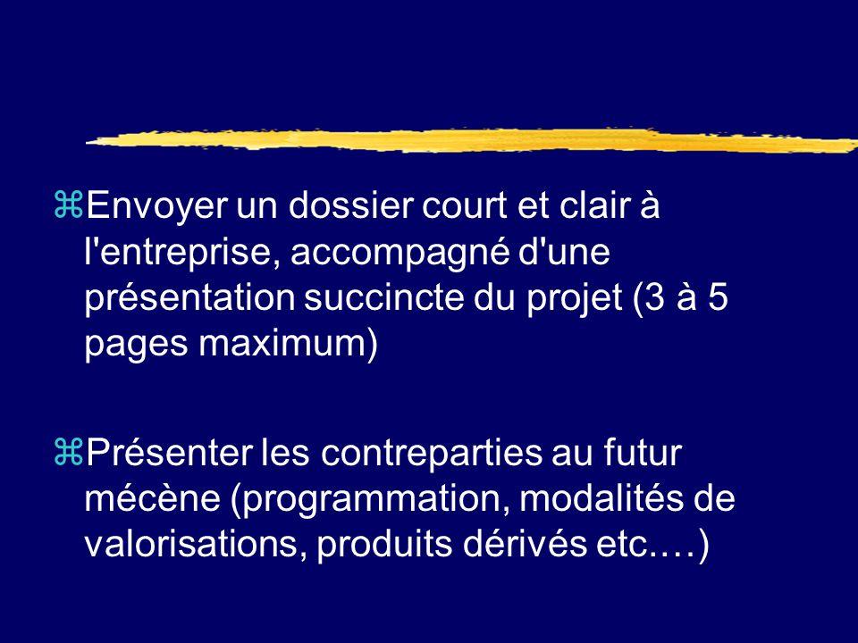 Forme du dossier de mécénat Elle est déterminante (graphisme, logo de lassociation, clareté du document,…)….