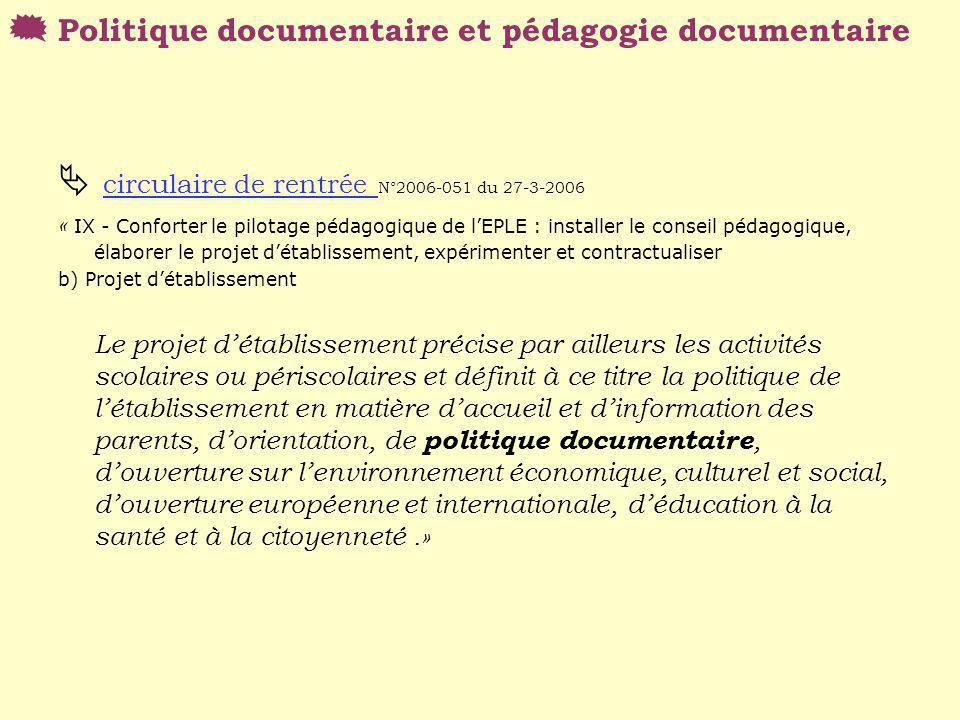 circulaire de rentrée N°2006-051 du 27-3-2006 circulaire de rentrée « IX - Conforter le pilotage pédagogique de lEPLE : installer le conseil pédagogiq