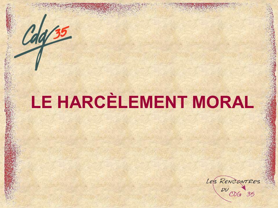 1) Harcèlement ou conflit .