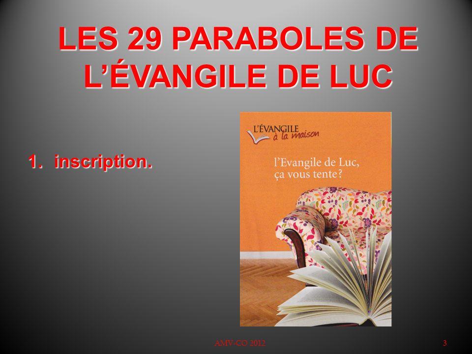 LES 29 PARABOLES DE LÉVANGILE DE LUC : 4 2.