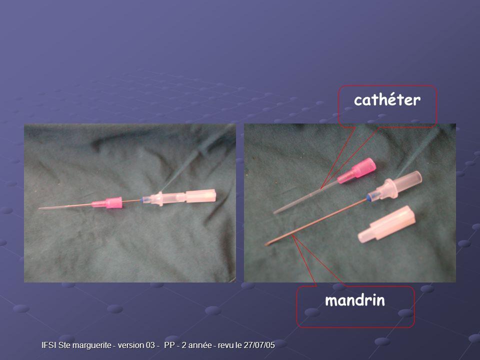IFSI Ste marguerite - version 03 - PP - 2 année - revu le 27/07/05 cathéter mandrin