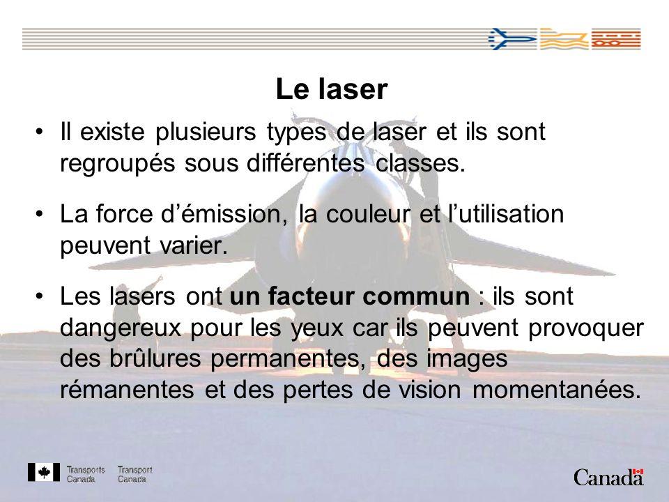 Il existe plusieurs types de laser et ils sont regroupés sous différentes classes.