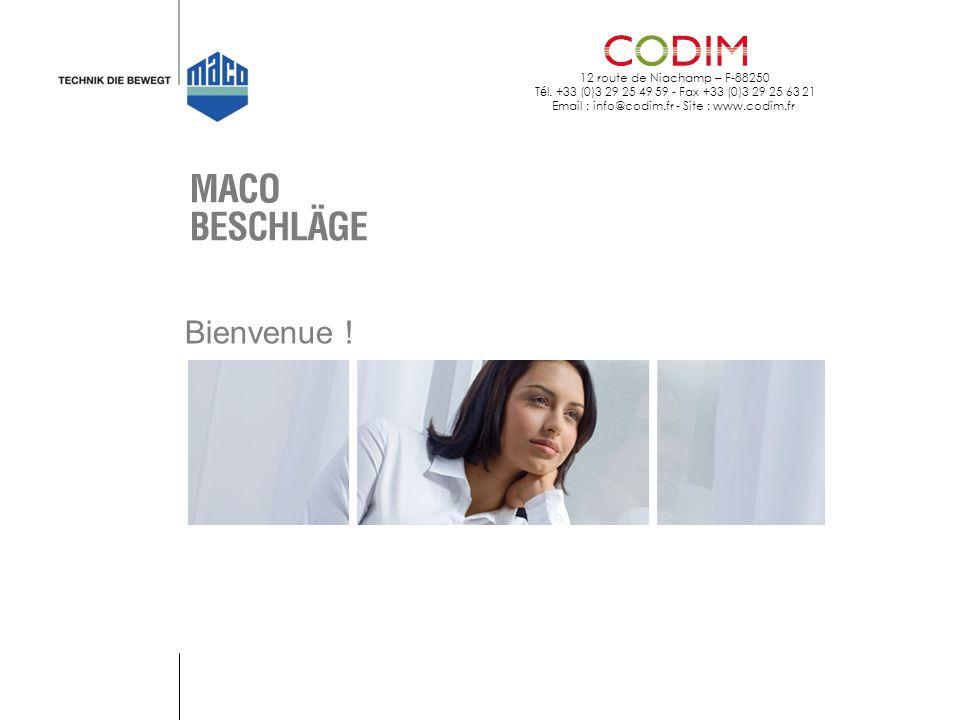 12 route de Niachamp – F-88250 T é l. +33 (0)3 29 25 49 59 - Fax +33 (0)3 29 25 63 21 Email : info@codim.fr - Site : www.codim.fr Bienvenue !