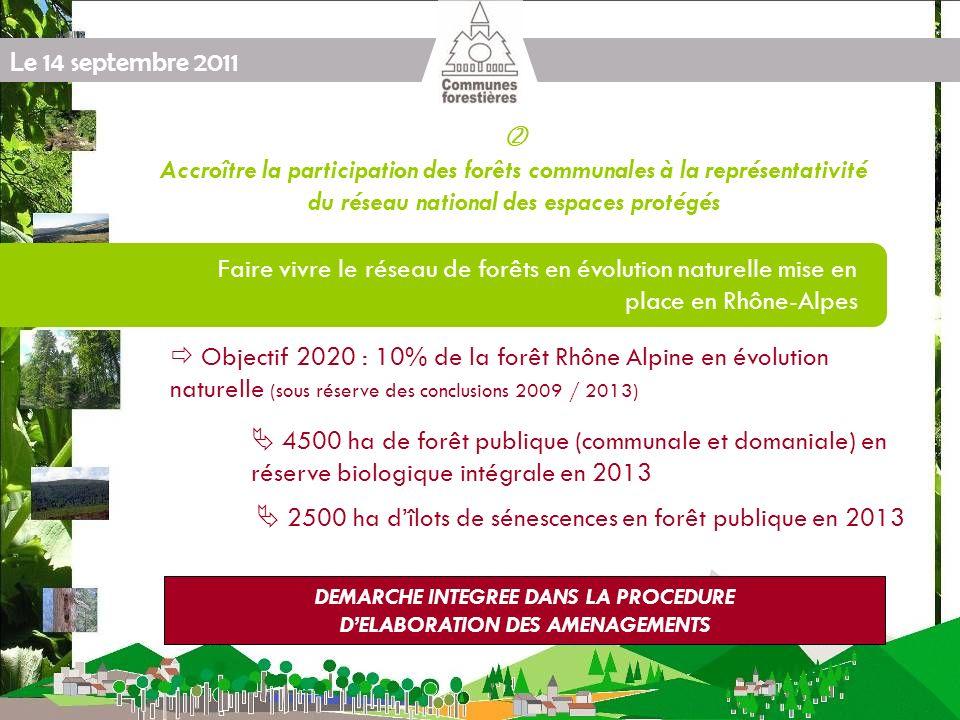 Le 14 septembre 2011 Protocole « FNE / FNCOFOR / ONF / Forêt Privée « Produire plus de bois tout en préservant mieux la biodiversité [...] » ENGAGEMENTS Appuyer le dispositifs Natura 2000 et limplication des Communes Forestières