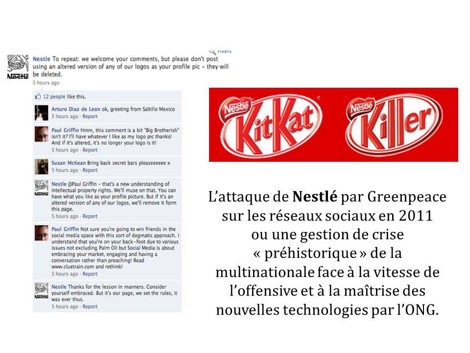 Lattaque de Nestlé par Greenpeace sur les réseaux sociaux en 2011 ou une gestion de crise « préhistorique » de la multinationale face à la vitesse de