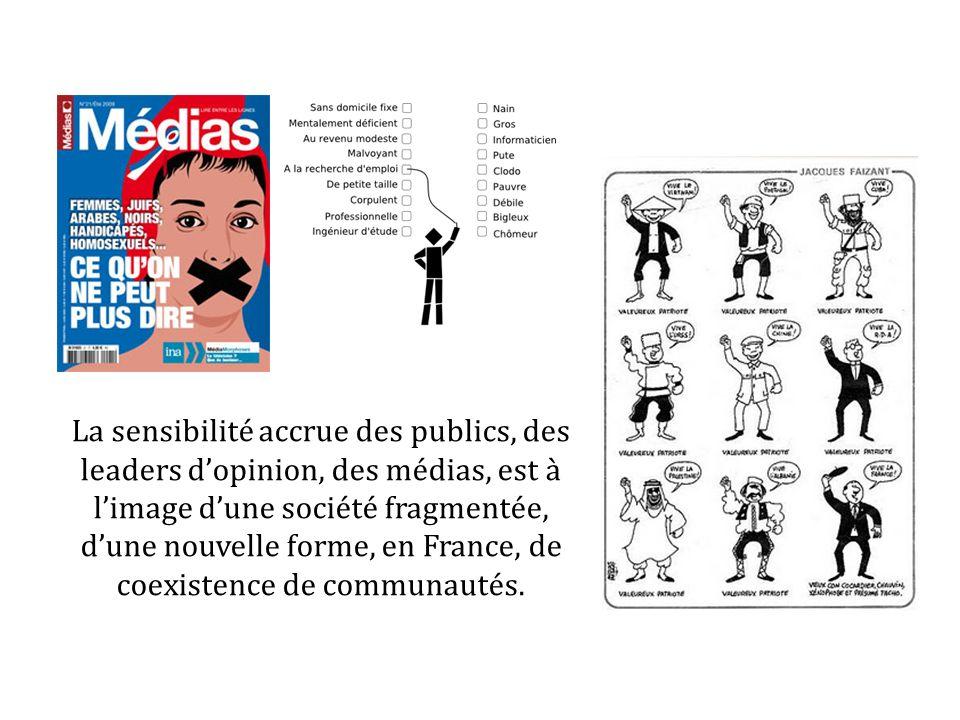 La sensibilité accrue des publics, des leaders dopinion, des médias, est à limage dune société fragmentée, dune nouvelle forme, en France, de coexiste