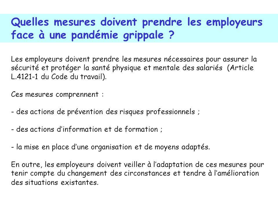 Les employeurs doivent prendre les mesures nécessaires pour assurer la sécurité et protéger la santé physique et mentale des salariés (Article L.4121-