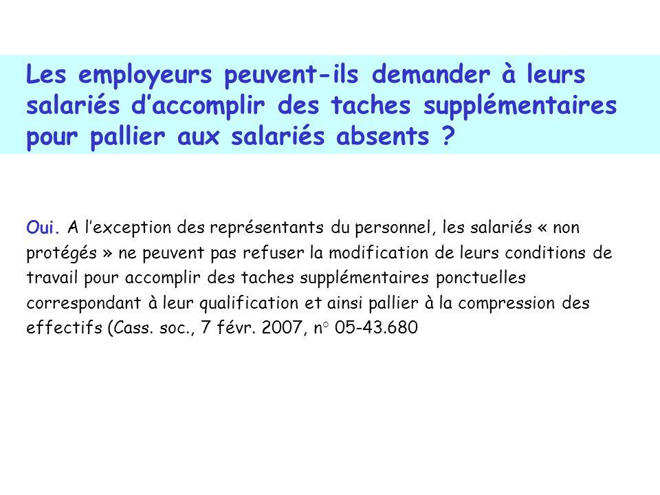 Oui. A lexception des représentants du personnel, les salariés « non protégés » ne peuvent pas refuser la modification de leurs conditions de travail
