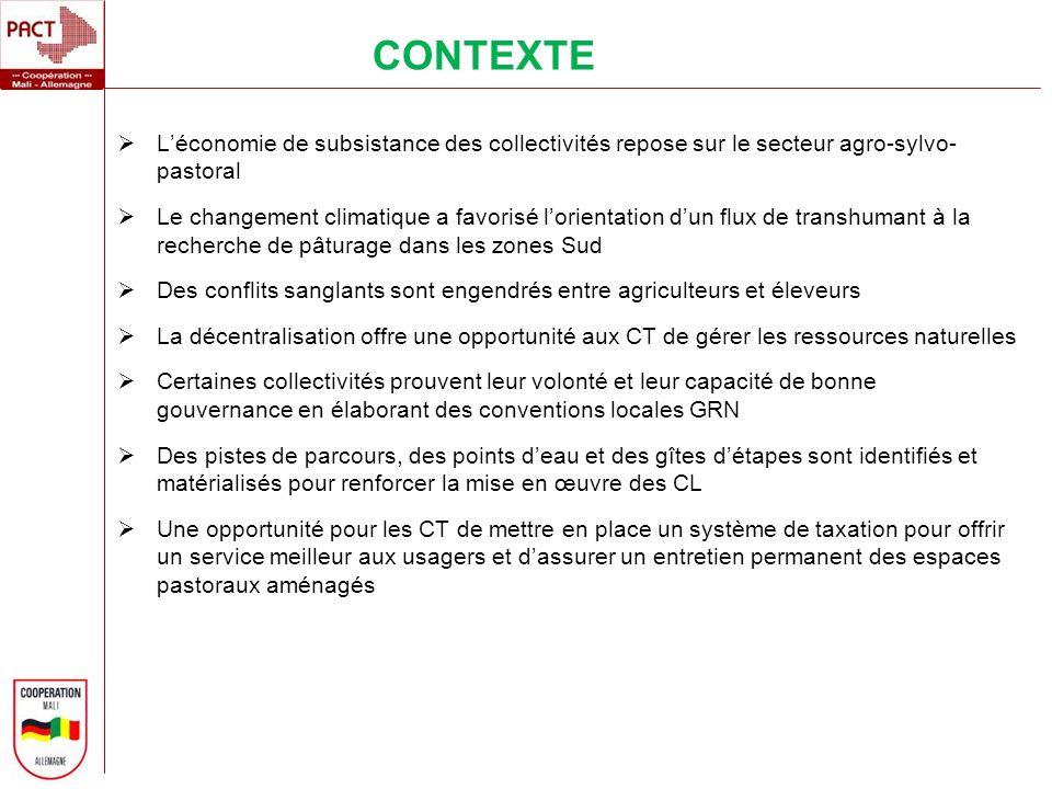 Léconomie de subsistance des collectivités repose sur le secteur agro-sylvo- pastoral Le changement climatique a favorisé lorientation dun flux de tra