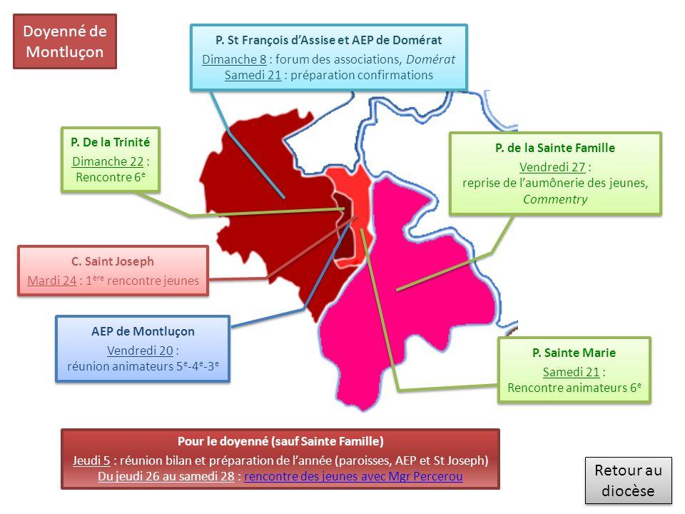 Retour au diocèse Retour au diocèse Doyenné de Montluçon P.