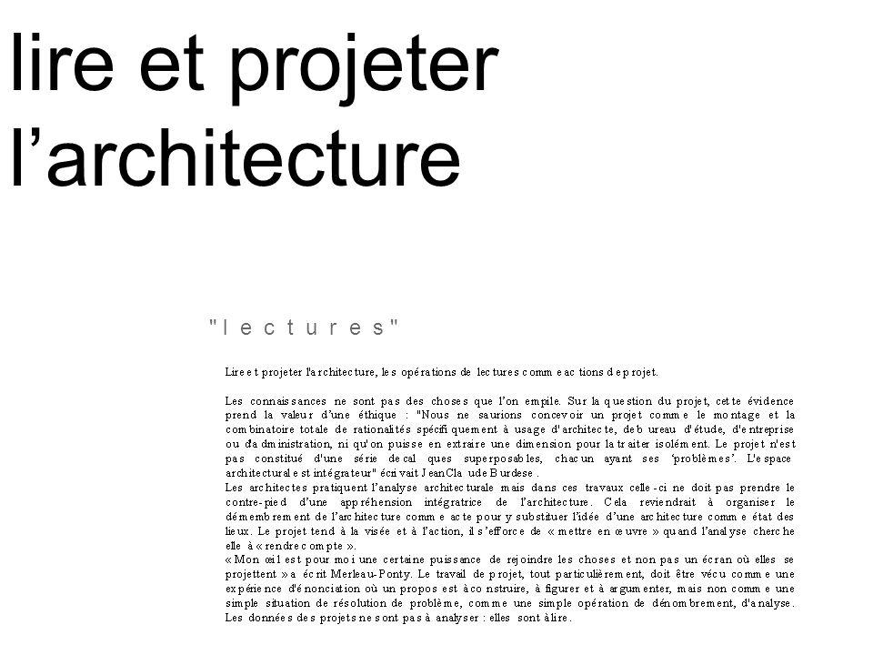 lire et projeter larchitecture