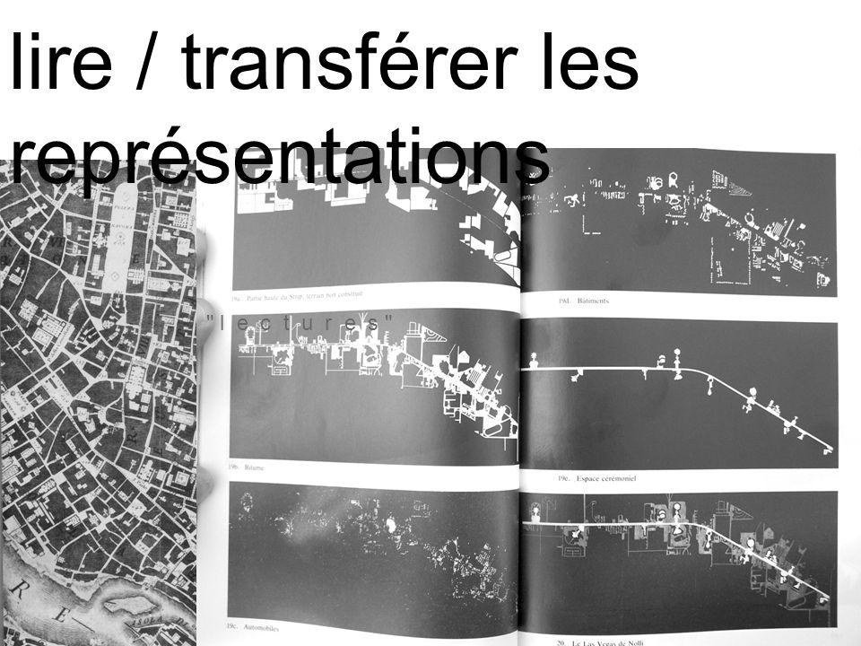 l e c t u r e s lire / transférer les représentations