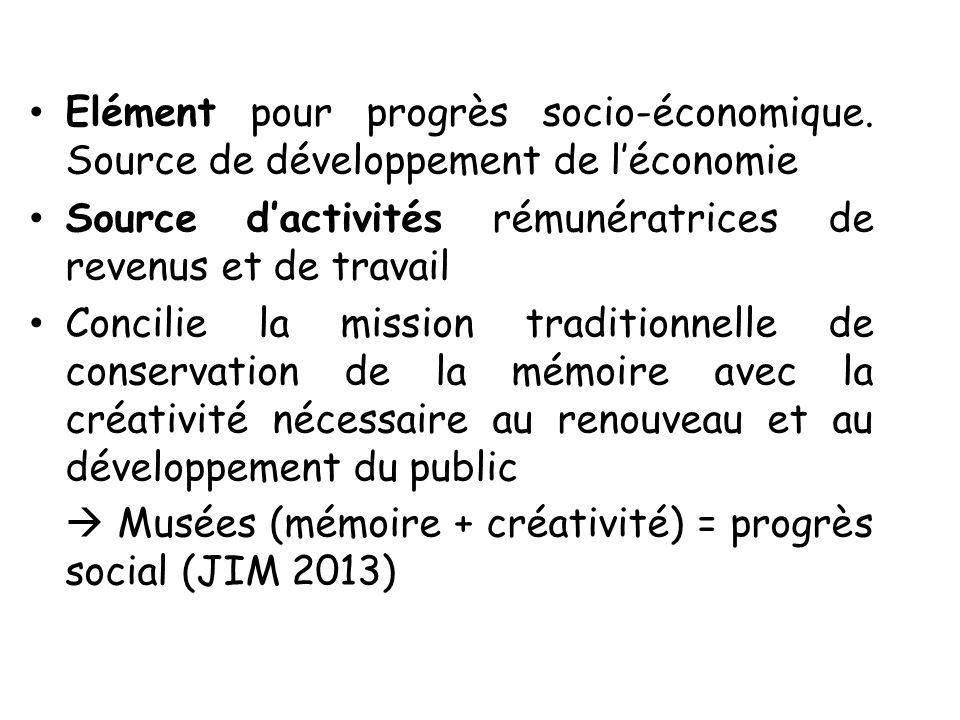 Elément pour progrès socio-économique. Source de développement de léconomie Source dactivités rémunératrices de revenus et de travail Concilie la miss