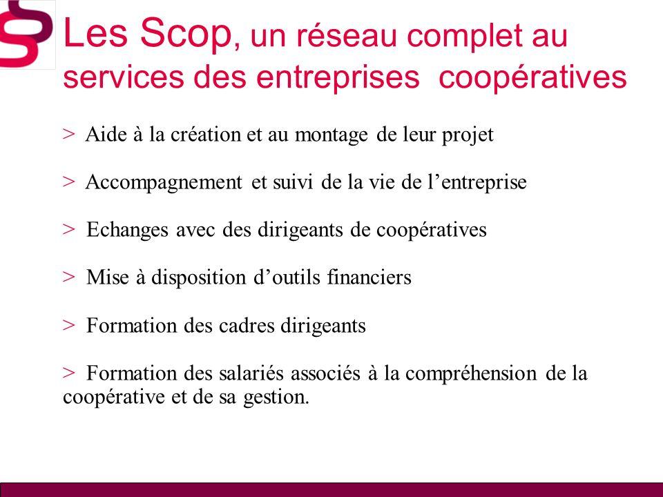 Les Scop, un réseau complet au services des entreprises coopératives > Aide à la création et au montage de leur projet > Accompagnement et suivi de la