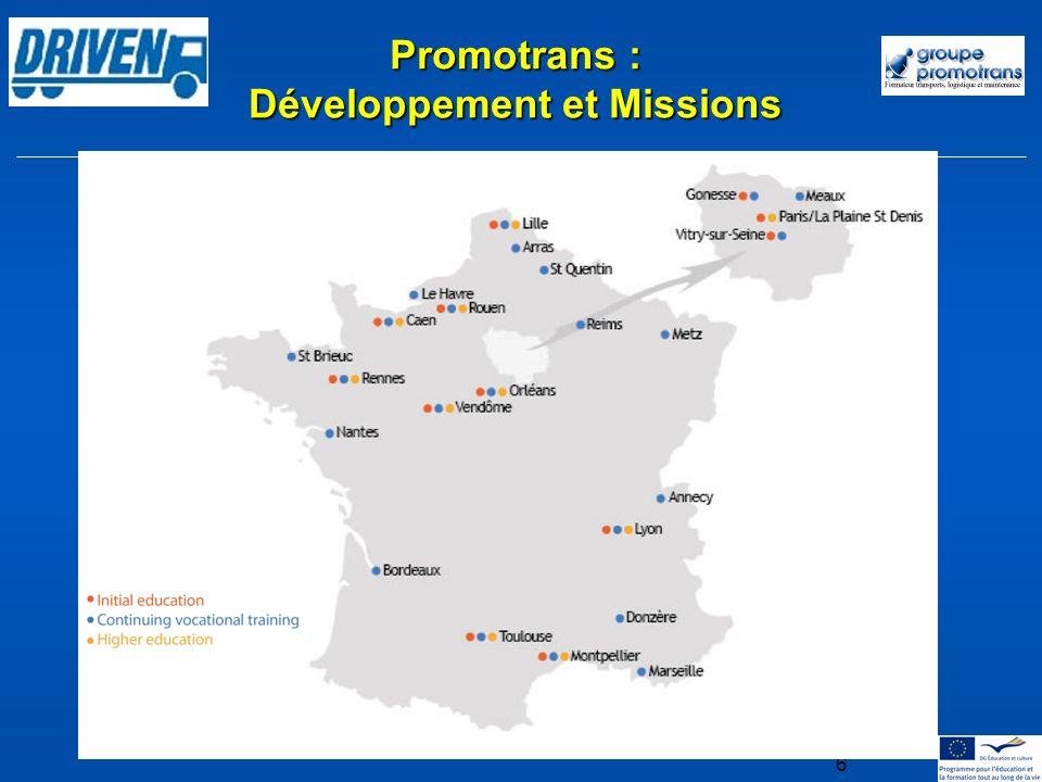 6 Promotrans : Développement et Missions