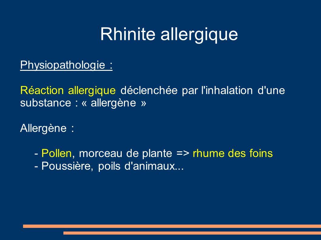 Rhinite allergique Oxymétazoline - ATURGYL: Vasoconstricteur local.