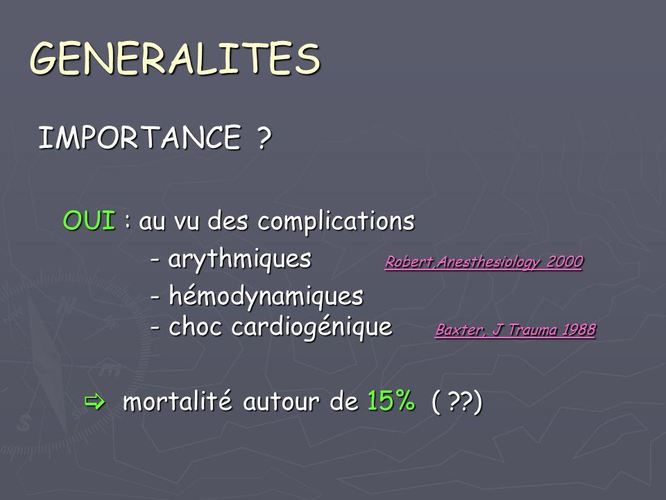 DIAGNOSTIC ECHOCARDIOGRAPHIE transthoraciq /transoesophagienne transthoraciq /transoesophagienne - aN cinétique pariétale - détecte dautres aN (vsx, épanchement..) - état myocardique sous-jacent Catoire, J Trauma 1995 - Weiss, Chest 1996 ETO : beaucoup plus sensible pour CM exam satisfaisant 98% vs 38%, CM : 34 vs 11 % exam satisfaisant 98% vs 38%, CM : 34 vs 11 % Chirillo, Heart 1996