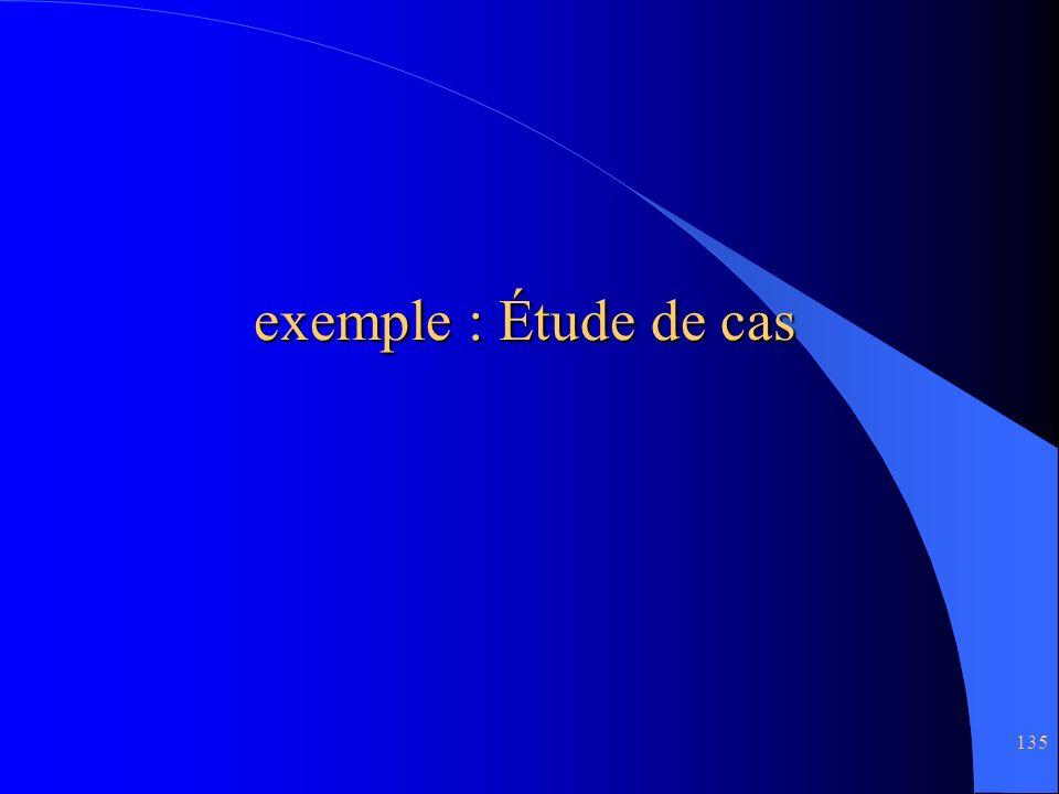 135 exemple : Étude de cas