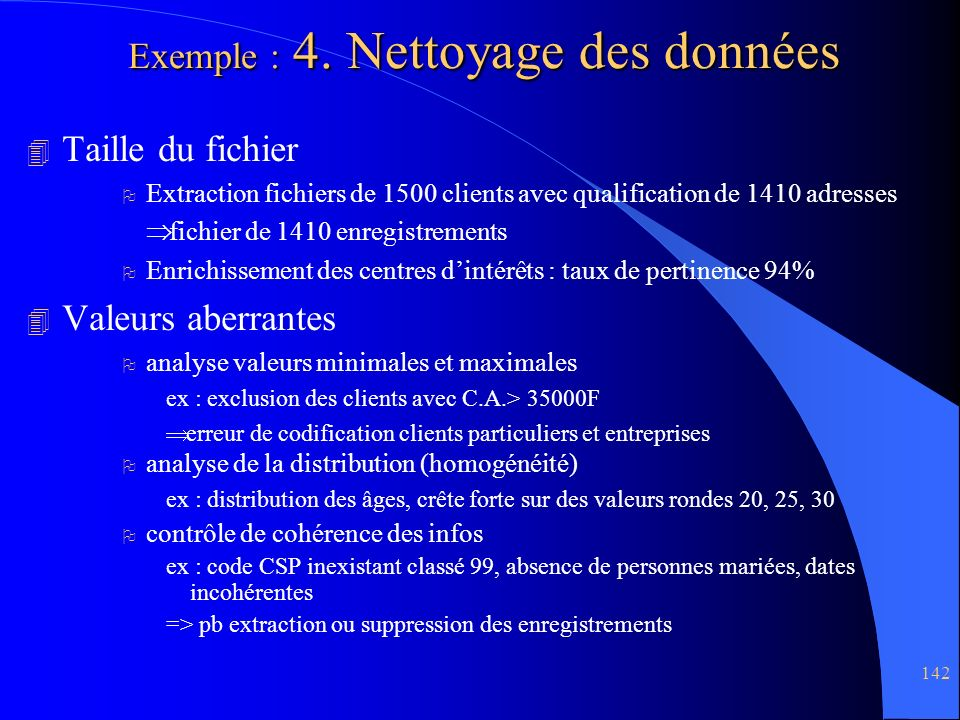 142 Exemple : 4.
