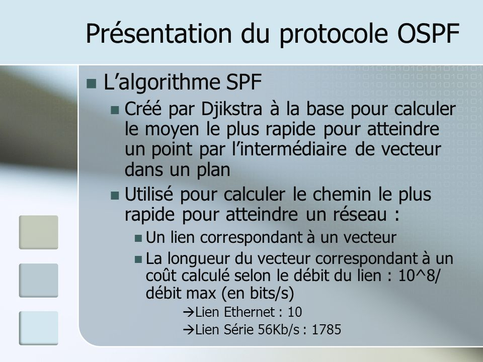 Validation de fonctionnement & Tests Fonctionnement entre zones OSPF 1 On vérifie les tables de routages (exemple du routeur 2600 n°22) :