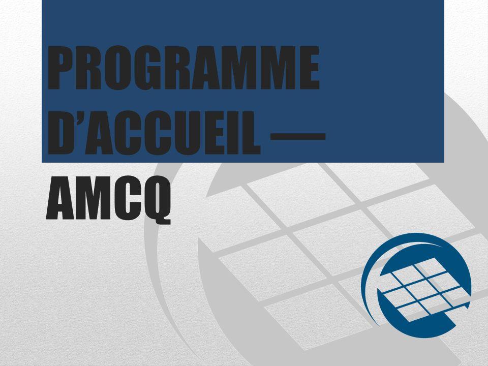 PROGRAMME DACCUEIL AMCQ