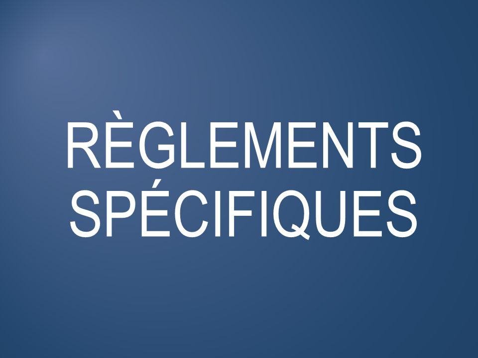 FONCTIONNEMENT RÈGLEMENTS GÉNÉRAUX LES RÈGLEMENTS SPÉCIFIQUES Formations obligatoires Bureau des examinateurs Garantie AMCQ Procédure dacceptation de