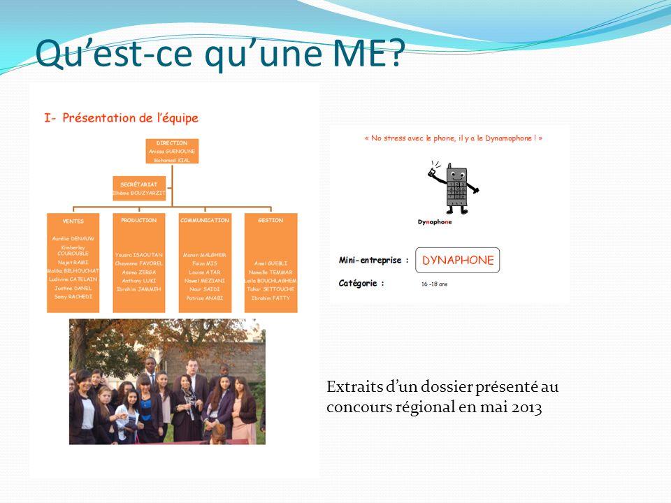 Quest-ce quune ME? Extraits dun dossier présenté au concours régional en mai 2013