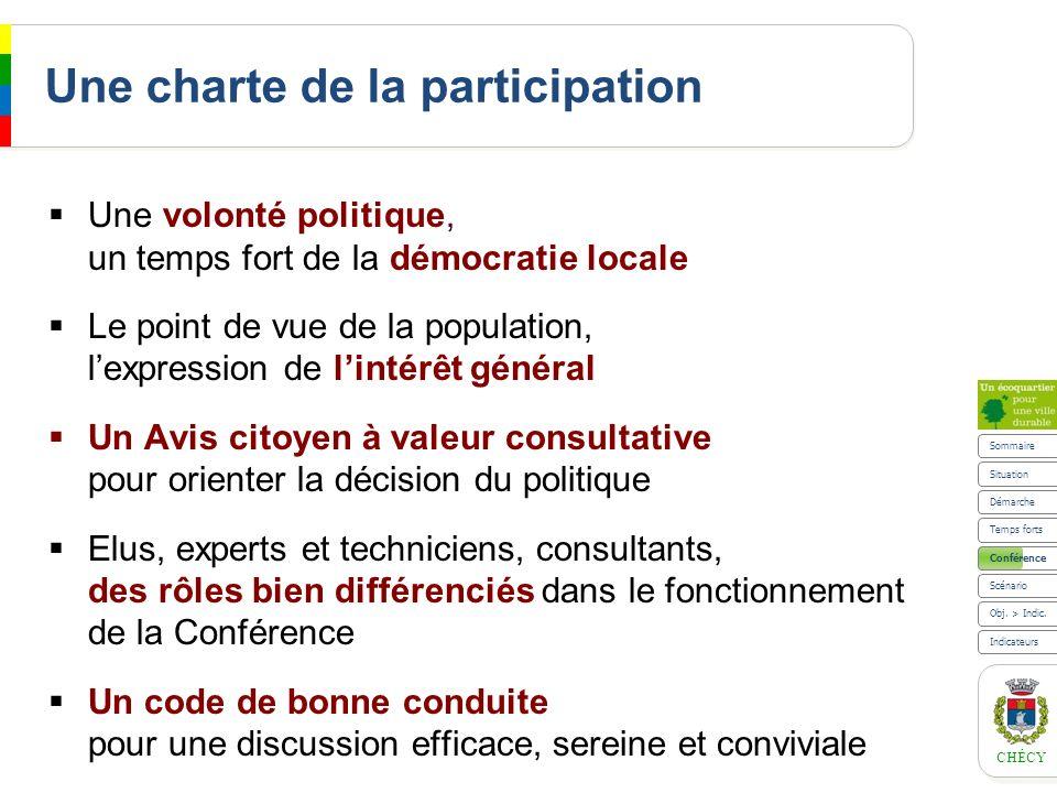 CHÉCY Une charte de la participation Une volonté politique, un temps fort de la démocratie locale Le point de vue de la population, lexpression de lin