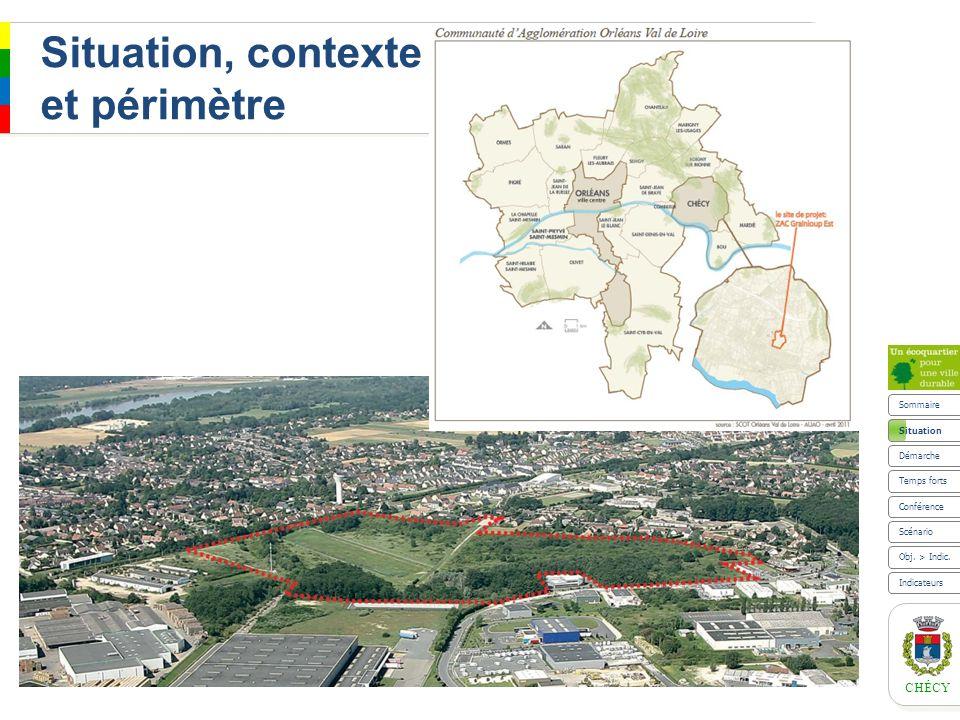 CHÉCY Situation Le site de Grainloup Est Un périmètre détude de 16 ha Sommaire Scénario Indicateurs Obj.