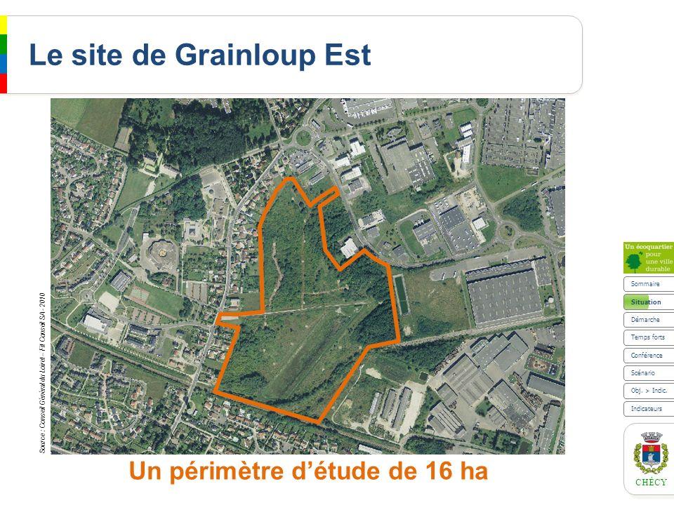 CHÉCY Situation Plan Local dUrbanisme et Orientation dAménagement en 2007 Sommaire Scénario Indicateurs Obj.
