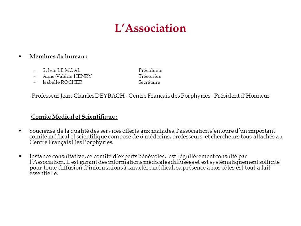 LAssociation Membres du bureau : –Sylvie LE MOAL Présidente –Anne-Valérie HENRYTrésorière –Isabelle ROCHERSecrétaire Professeur Jean-Charles DEYBACH -