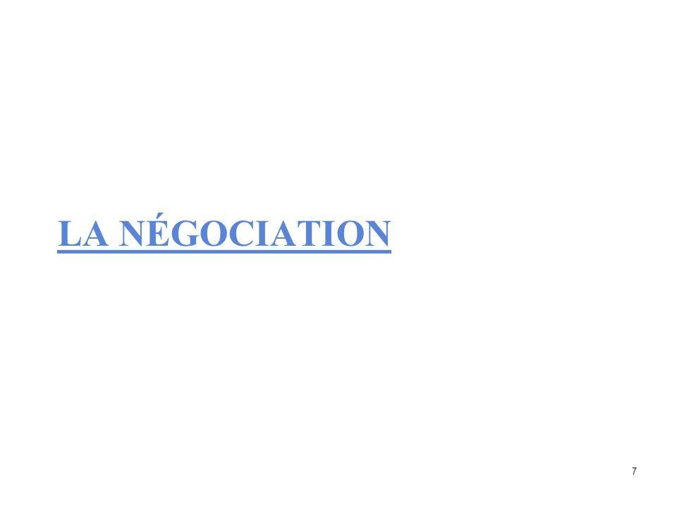 La négociation collective Processus de libre discussion entre 2 agents économiques en vue de conclure une convention collective relative aux conditions de travail; 8