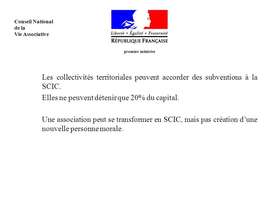 Les collectivités territoriales peuvent accorder des subventions à la SCIC.