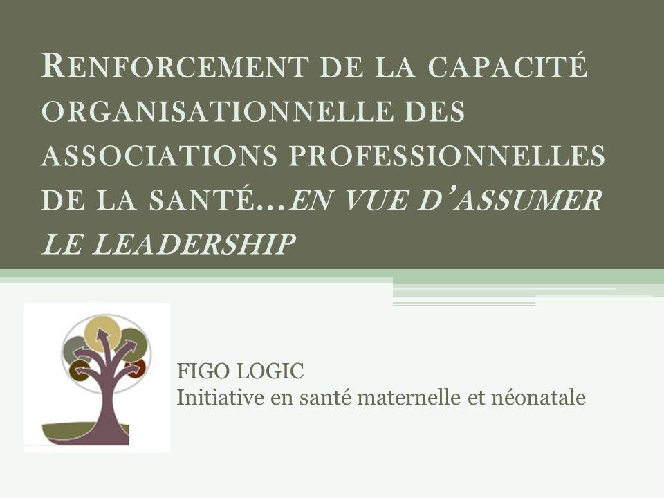 R ENFORCEMENT DE LA CAPACITÉ ORGANISATIONNELLE DES ASSOCIATIONS PROFESSIONNELLES DE LA SANTÉ...