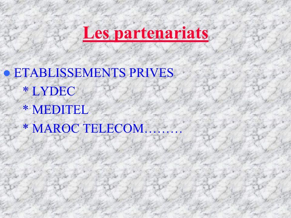 Les partenariats MINISTERES *MINISTERE DE LEDUCATION ET LA JEUNESSE *MINISTERE DE LENVIRONNEMENT