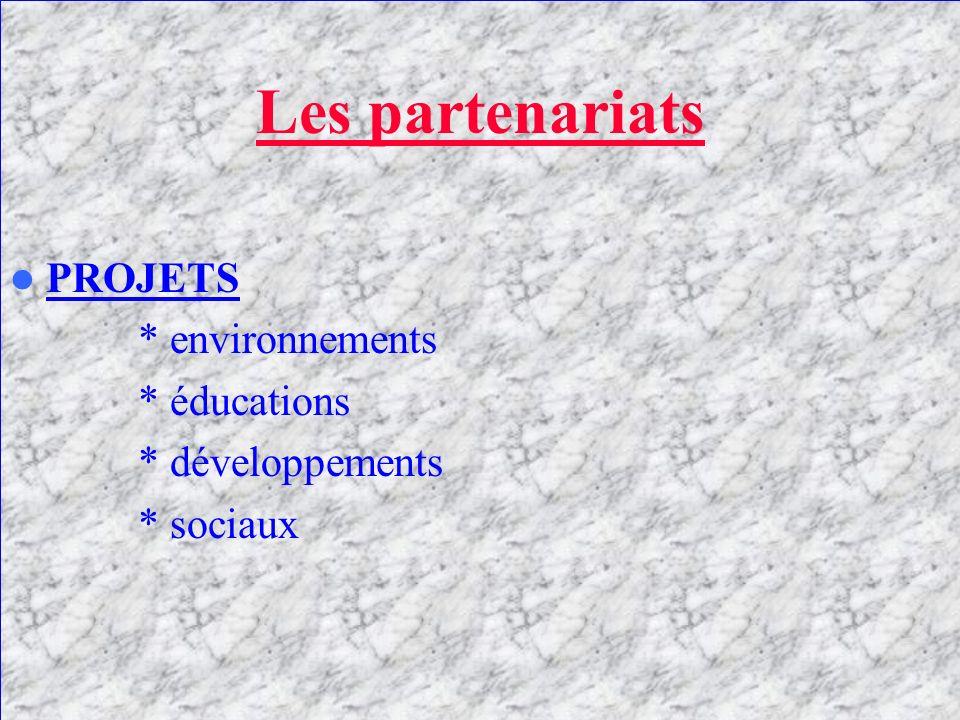 Les partenariats ETABLISSEMENTS PRIVES * LYDEC * MEDITEL * MAROC TELECOM………