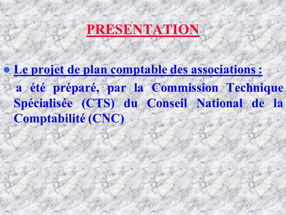 INTRODUCTION PRESENTATION Le projet de plan comptable des associations : a été préparé, par la Commission Technique Spécialisée (CTS) du Conseil National de la Comptabilité (CNC)