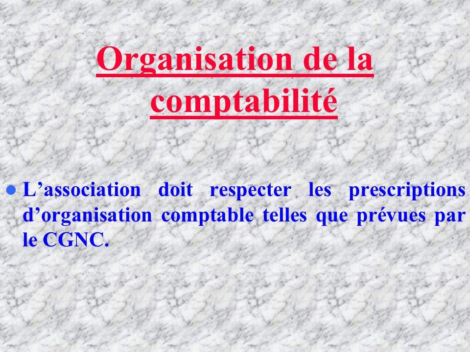 Cadre général Lassociation doit tenir sa comptabilité conformément au Code Général de la Normalisation Comptable (CGNC) sous réserve des adaptations p