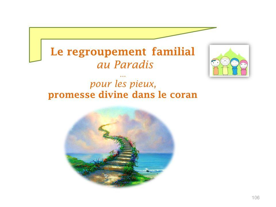 Le Coran, guidance de Dieu révélée aux hommes … est venu transmettre la bonne nouvelle du Paradis aux pieux 105