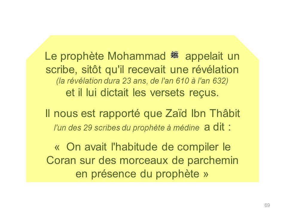 Enseigner la parfaite conservation du Coran (dernière guidance de Dieu aux Hommes descendu au VII S sur Mohammad) Le coran nous est parvenu identique