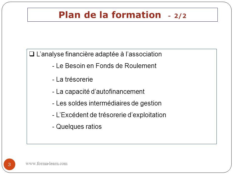 Plan de la formation - 1/2 A quoi sert la comptabilité ? Présentation du bilan de lassociation Présentation du compte de résultat de lassociation www.
