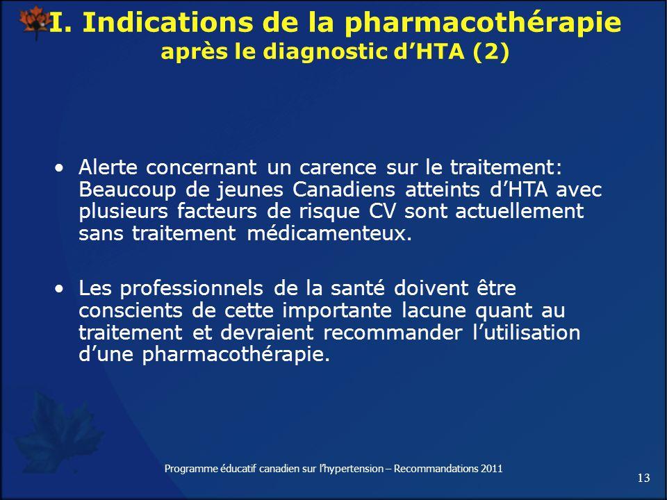 13 Programme éducatif canadien sur lhypertension – Recommandations 2011 Alerte concernant un carence sur le traitement: Beaucoup de jeunes Canadiens a