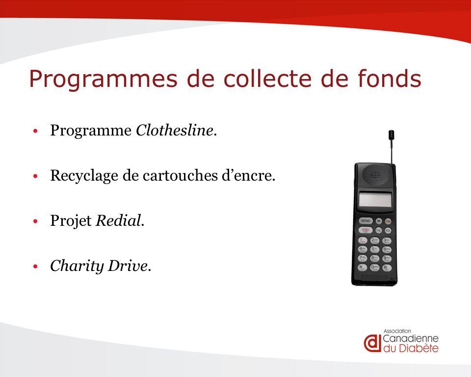 Programmes de collecte de fonds Programme Clothesline.